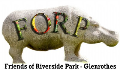 FORP Hippo logo - borderless with 3D letters on its side